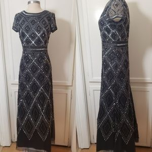Adrianna Papell Art Deco Beaded Dress